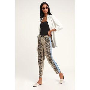 🆕Confidence Queen Beige Snake Print Pants